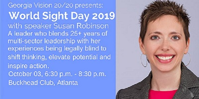 World Sight Day 2019 – Speaker Event With Susan Robinson