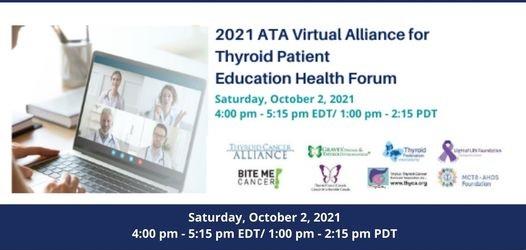 2021 ATA Alliance for Thyroid Patient Education Health Forum - Virtual